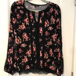 WHBM flower blouse size M